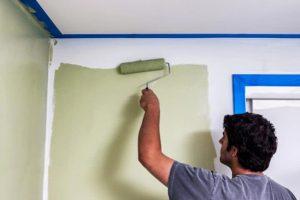 Выкраска стен своими руками