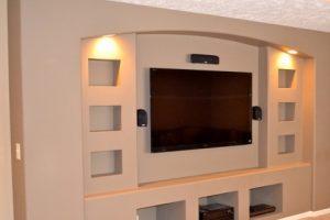 Ниша из гипсокартона под телевизор при ремонте квартиры от АСК Триан